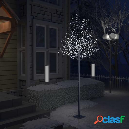 Árbol de Navidad 600 LEDs blanco frío flores de cerezo 300