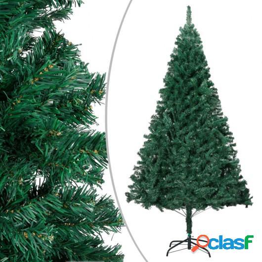 Árbol de Navidad artificial con ramas gruesas PVC verde 210