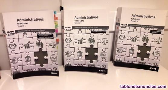 Libros oposiciones administrativos del estado adams