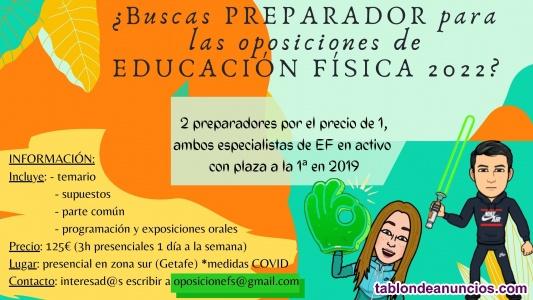Preparadores oposición Maestros Educación Física Madrid
