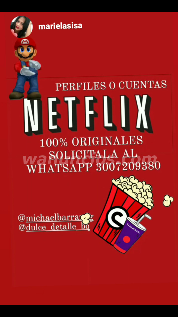 Venta de pantallas y cuentas Netflix - Barcelona