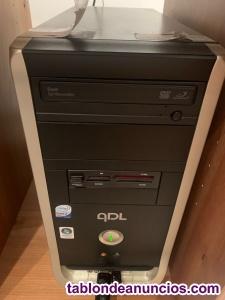 Ordenador, monitor y teclado inalámbrico