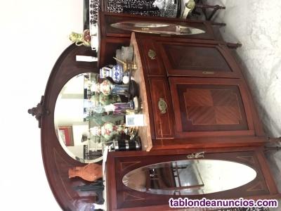 Muebles de salón con espejo