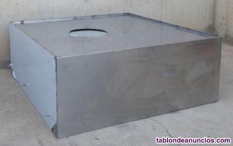 Campana de inox 120x50x120cm en muy buenas condiciones.