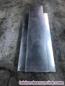 Mesa con banco plegable acero inoxidable