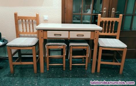 Conjunto mesa y sillas cocina