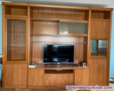 Mueble salón, sofá, mesa comedor y mesa auxiliar