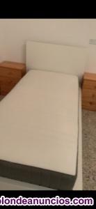 Vendo 2 camas color blancas 2 colchones medidas 90 x 2