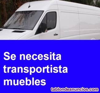 Se necesita transportista con furgoneta