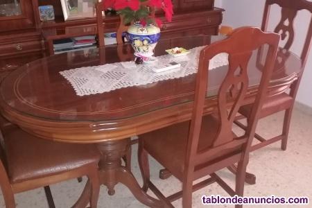 Mueble y mesa de salón en perfecto estado