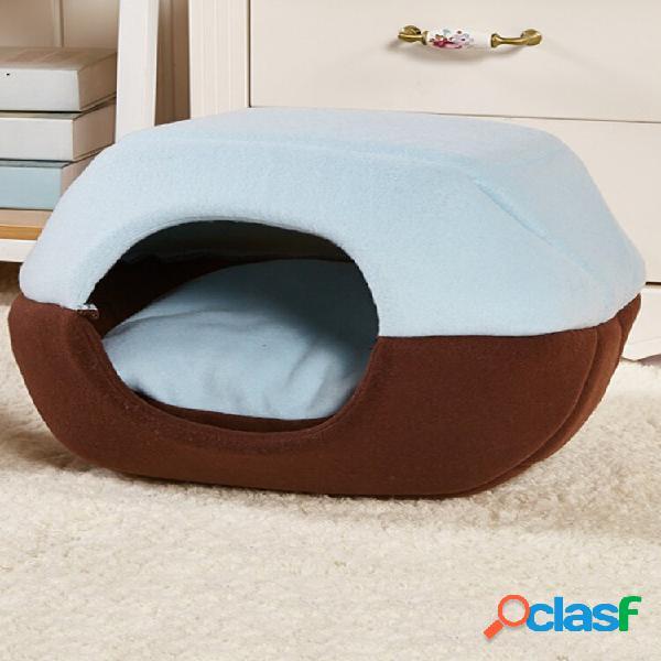 2 en 1 Gato Perro Cama cueva Cama lavable para mascotas Soft