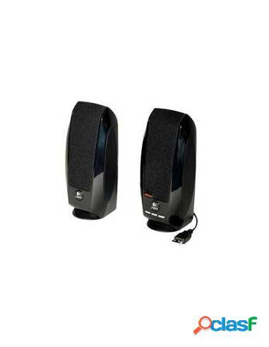 ALTAVOCES LOGITECH S150 2.0 1.2W USB BLACK SIN AC
