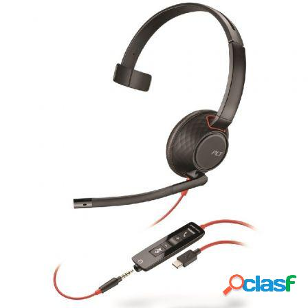 Auricular plantronics blackwire 5210 usb-c/ con microfono/