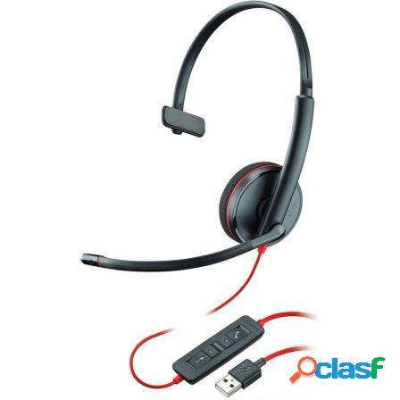 Auriculares plantronics blackwire c3210/ con microfono/ usb/