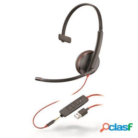 Auriculares plantronics blackwire c3215/ con microfono/ jack