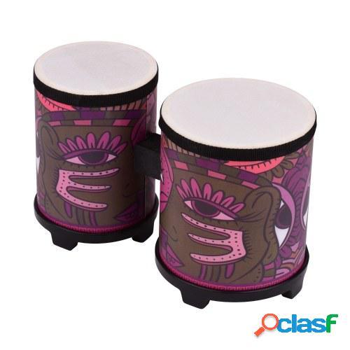 Bongo Drum Instrumento de percusión Piel de cerdo Cabeza de