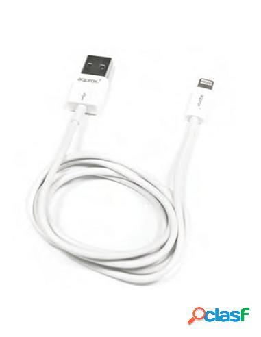 CABLE APPROX USB 2.0 A MACHO / APPLE LIGHTNING MACHO 1M