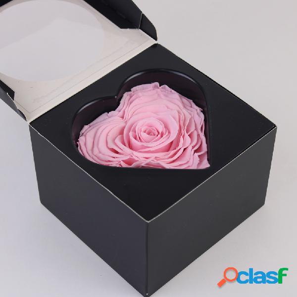 Caja Regalo Rosa Natural Eterna Rosa con Forma de Corazón