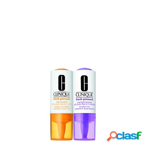 Clinique Fresh Pressed Set Daily + Overnight Boosters with