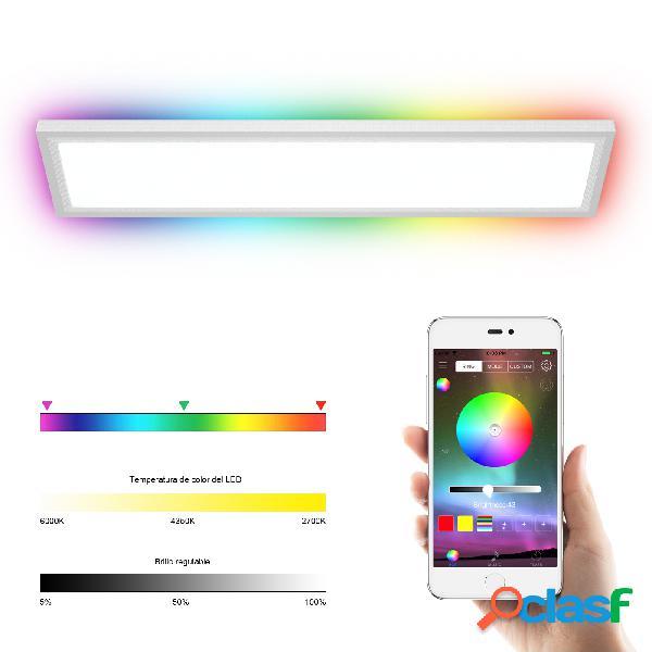 Costway LED Lámpara de Techo RGB con Bluetooth Luz