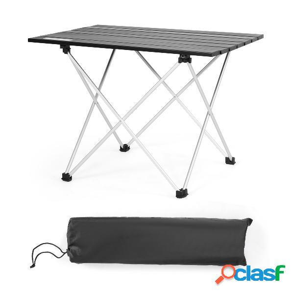 Costway Mesa de Camping Plegable de Aluminio con Bolsa de