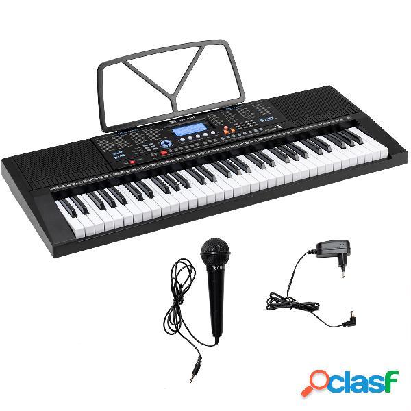 Costway Piano Electrónico con 61 Teclas Atril Micrófono