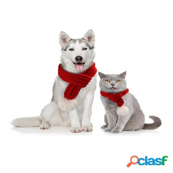 Creative Pet Knit Scarf Jewelry Bib Gato Perro Scarf Pet