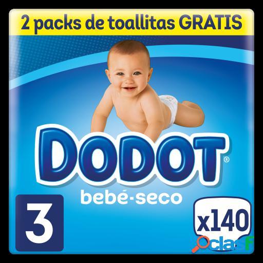 Dodot Kit Bebé Seco Pañales Talla 3 140 + Regalo Toallitas