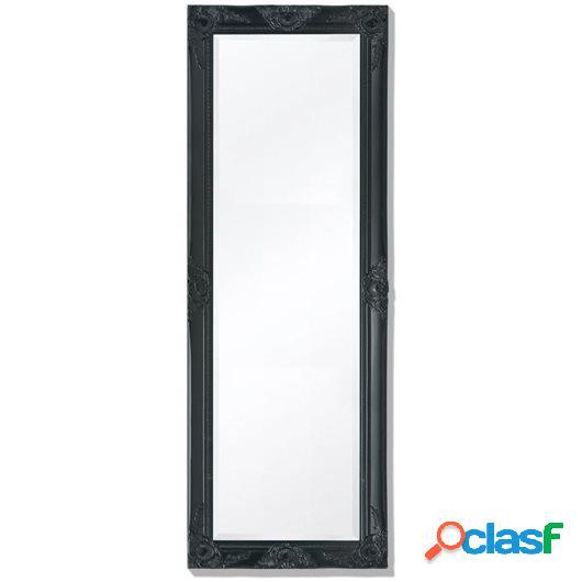 Espejo de pared estilo barroco 140x50 cm negro