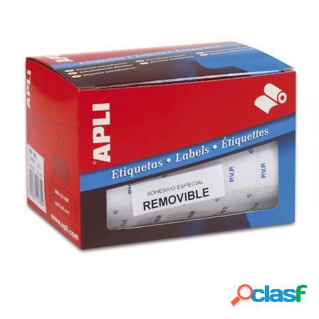 Etiquetas adhesivas en rollo apli 10084 pvp/ 12 x 18mm/ 3360