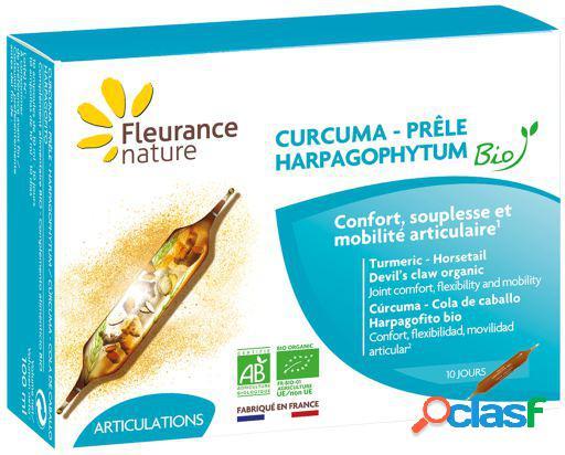 Fleurance Nature Cúrcuma Harpagofito Cola de Caballo Bio 40