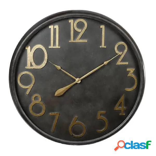 Gifts Amsterdam Reloj de pared negro y dorado antiguo 80,5
