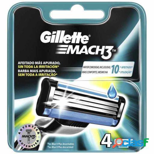 Gillette Mach3 Cargador 4 uds Gillette