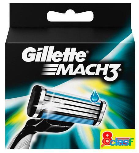 Gillette Recambio de Cuchilla Mach 3 8 uds 8 Unidades