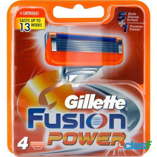Gillette Recambios para Fusion Power 4 uds Gillette