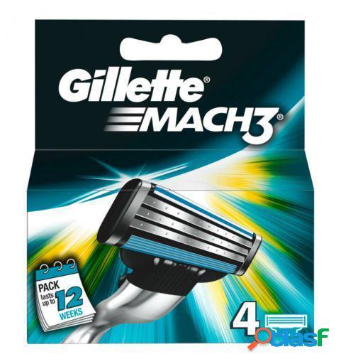 Gillette Recambios para Mach3 4 uds