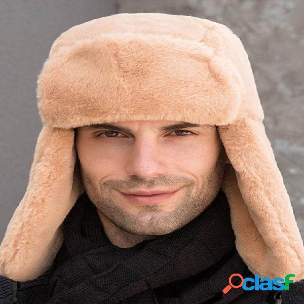 Hombres y Mujer Plush Plus Velvet Warm Oreja Protección