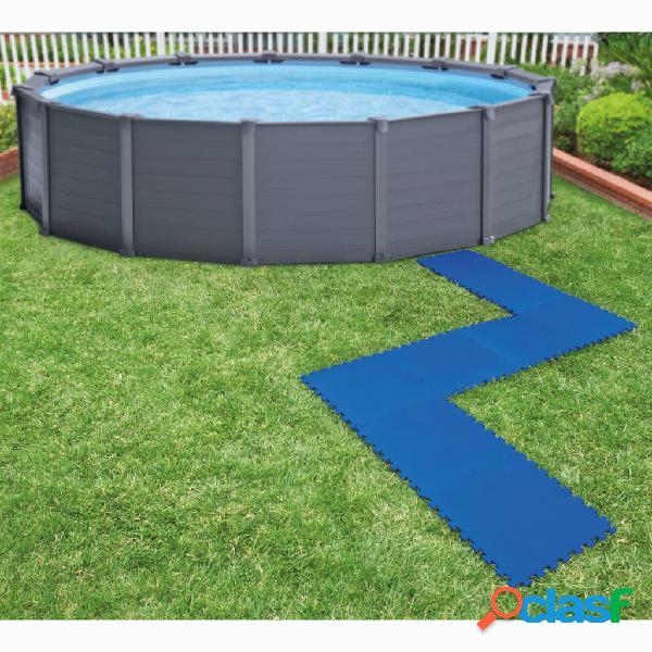Intex Bestway Protectores de suelo de piscina 8 piezas azul