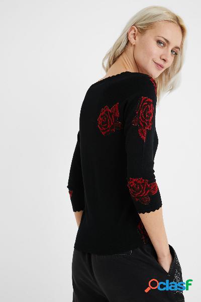 Jersey escote pico cintas - BLACK - L