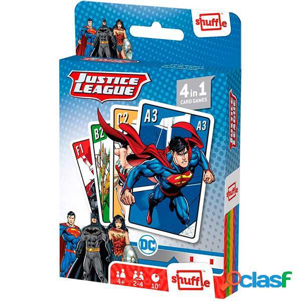 Justice League Juego Cartas Shuffle