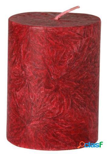 Kerzerman Vela pilar pequeña Roja