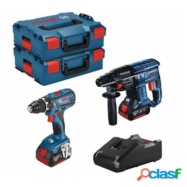 Kit atornillador bateria bosch gsr 18v-28 + gbh 18v-21 + 2