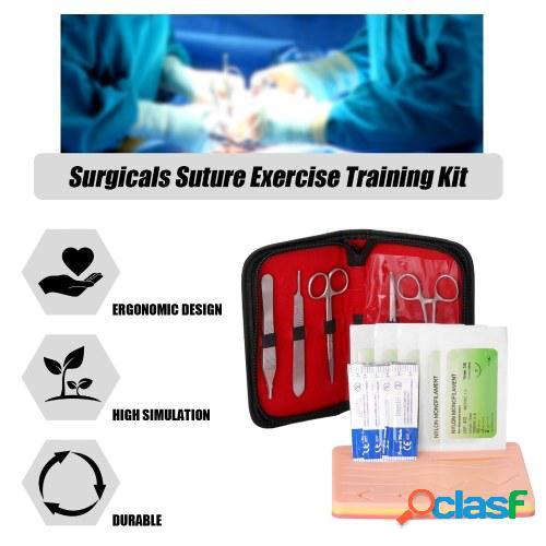 Kit de entrenamiento de ejercicios de sutura quirúrgica Kit