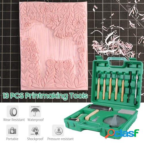 Kit de herramientas de impresión de 13 piezas con caja de
