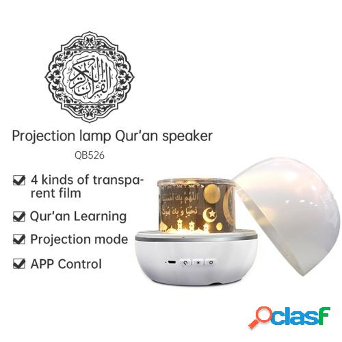 Lámpara de proyección de altavoz pequeño inteligente BT