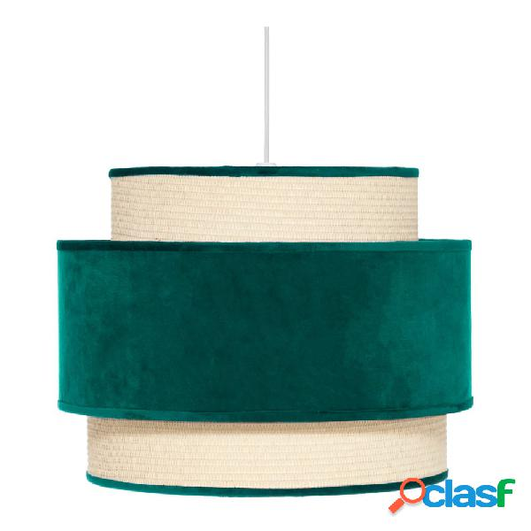 Lámpara de techo terciopelo verde oscuro