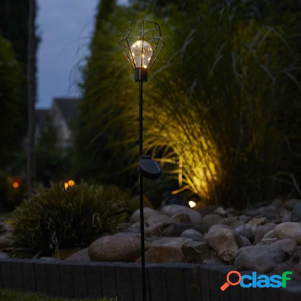 Luxform Lámpara solar LED con pincho para jardín Pentagon