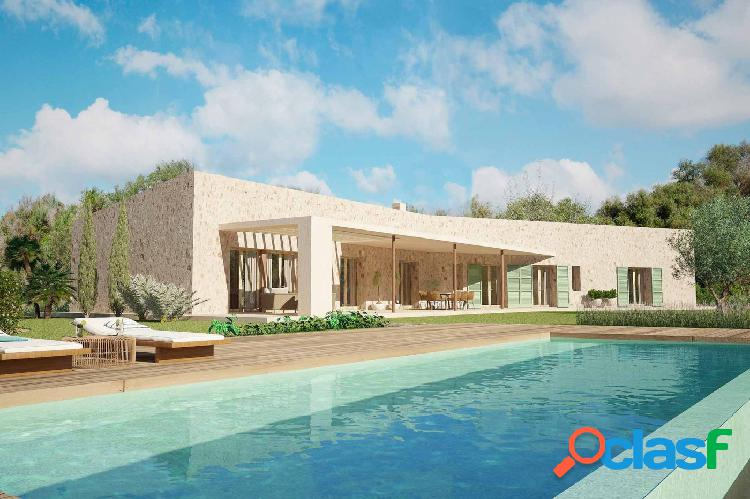 Moderna finca llave en mano con piscina y vistas al mar en