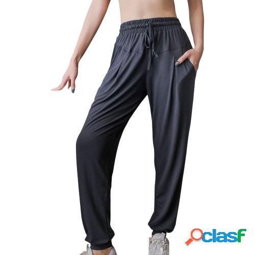 Mujer Pantalones deportivos de secado rápido con bolsillos