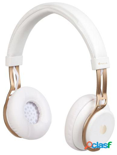 NGS Auriculares Bluetooth con Micrófono Articalust Blanco